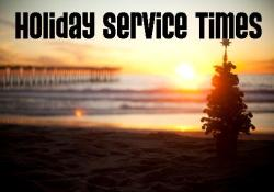 Holiday Service Times